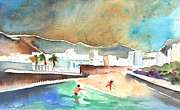 Lanzarote Paintings - Punta Mujeres 01 by Miki De Goodaboom