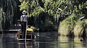 Punting Prints - Punting in New Zealand Print by Sheldon Kralstein