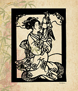 Asian Woman Framed Prints - Puppeteer Framed Print by Cheryl Young