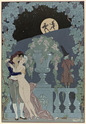 Vine Grapes Painting Posters - Puppets Poster by Georges Barbier