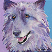 Pat Saunders-white Dog Paintings - Puppy Dog by Pat Saunders-White