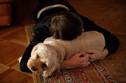 Sleeping Dogs Photo Prints - Puppy Love Print by JC Findley