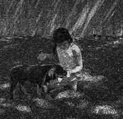 Puppy Love Print by Mayhem Mediums