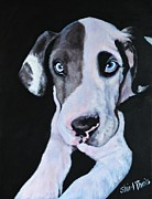 Black Eye Prints - Puppy Love Print by Shirl Theis