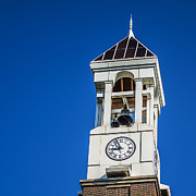 Lafayette Posters - Purdue University Bell Tower Clock Poster by David Haskett