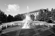 Boiler Photo Prints - Purdue University Loeb Fountain Print by University Icons