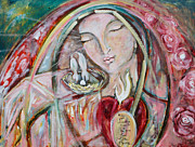 Virgin Mary Paintings - Pure Love of the Divine by Shiloh Sophia McCloud