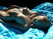 Wooden Sculptures Prints - Pure Seduction Print by Carlos Baez Barrueto