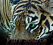 Tiger Digital Art - Pure Source - Tiger by WDM Gallery