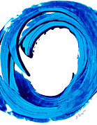 Large Canvas  For Sale Paintings - Pure Water 312 - Blue Abstract Art by Sharon Cummings by Sharon Cummings