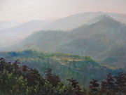 Blue Ridge Parkway Paintings - Purgatory Mountain by Janet Wimmer