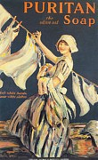 Vintage Posters - Puritan 1910s Uk Washing Powder Poster by The Advertising Archives