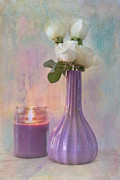 Candle Lit Digital Art Prints - Purity Print by Betty LaRue