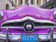 Purple Ford Photos - Purple 1950s Ford in Cuba by David Litschel
