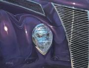 Chrome Painting Prints - Purple 37 Print by Jack Atkins