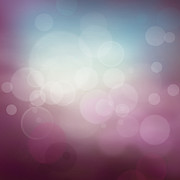 Mythja Posters - Purple abstract bokeh background  Poster by Mythja  Photography