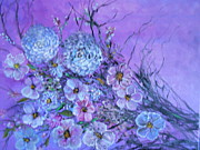 Rhonda Lee - Purple and Blue Posy...