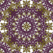 Snowflake Originals - Purple and Gold Flake by Peaceful Spirit