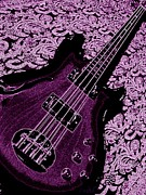 Throw Posters - Purple Bass Poster by Chris Berry