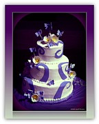 Purple Butterfly Wedding Cake Print by Michelle Frizzell-Thompson