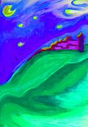 Color Purple Pastels Posters - Purple Castle by jrr Poster by First Star Art