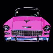 Edward Fielding - Purple Chevy Pop Art