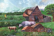 William Killen - Purple Cow and Barn
