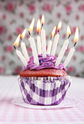 Frosting Prints - Purple cupcake Print by Isabel Poulin