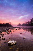 Landscape Photo Posters - Purple Dawn Poster by Davorin Mance