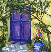 Vine Paintings - Purple Door by Jamie Frier