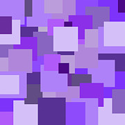 Purple Extravaganza Print by Mariola Bitner