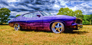 Ford Falcon Coupe Posters - Purple Falcon Coupe Poster by Phil 