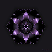 Purple Fantasy Flower Print by Judi Suni Hall