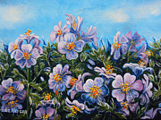Impressionistic  On Canvas Paintings - Purple Flowers by Drinka Mercep