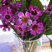 Still Life Art - Purple Flowers by Linda Woods