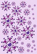Snowflake Digital Art Posters - Purple Gems Poster by Anastasiya Malakhova