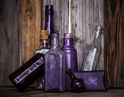 Del Rio Tx Prints - Purple Glass Print by Amber Kresge