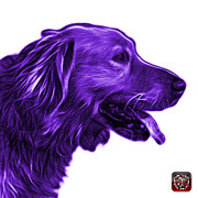 Retriever Digital Art - Purple Golden Retriever - 4047 FS by James Ahn
