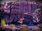 Watson Lake Photos - Purple Granite Cliffs by Aaron Burrows