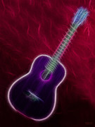 Music Lovers - Purple Guitar by Hanza Turgul