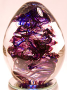 Glass Sculpture Glass Art - Purple Haze by David Patterson