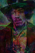 Photoshop Digital Art Posters - Purple Haze Poster by Jack Zulli