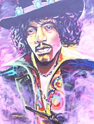 Concerts Mixed Media Framed Prints - Purple Haze Framed Print by Jonathan Tyson
