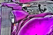 Chrysler Pyrography Prints - Purple haze Print by Joseph Hennen