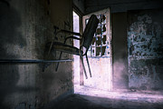 Old Door Photos - Purple Haze - Strange scene in an abandoned psychiatric facility by Gary Heller