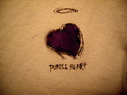 Purple Heart Painting Posters - Purple Heart Poster by Robert Cunningham