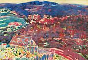 Famous Artists - Purple Hills by George Benjamin Luks