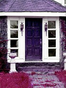 Entryway Prints - Purple House Digital Photograph Print by Joseph Stephan Chagnon Laura Carter