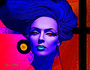 Titled Art Slide Show - Purple Lady by Chuck Staley