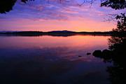 Landscape Photos Prints - Purple Lake Sunset Light  Print by Neal  Eslinger